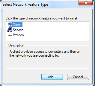 Adding clients to network adapters